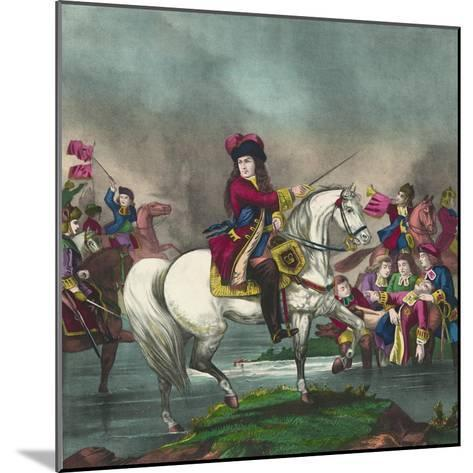 William III at the Battle of the Boyne, 1874--Mounted Giclee Print