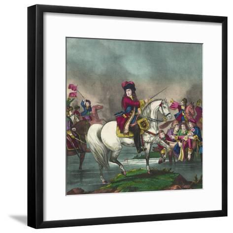 William III at the Battle of the Boyne, 1874--Framed Art Print