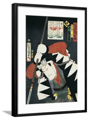 Close-Up of a Kabuki Actor Holding a Spear--Framed Art Print