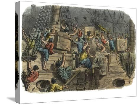 Boston Tea Party, C.1860S--Stretched Canvas Print