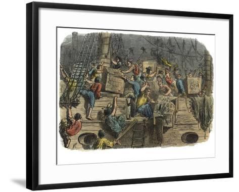 Boston Tea Party, C.1860S--Framed Art Print