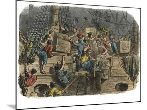 Boston Tea Party, C.1860S--Mounted Giclee Print