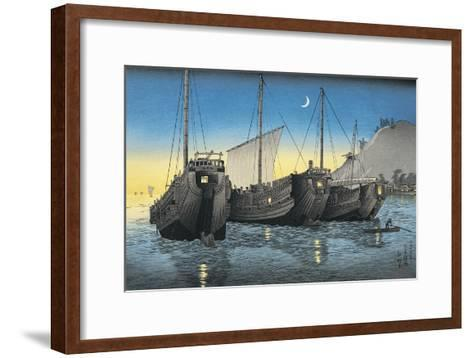 Junk Ships in the Sea--Framed Art Print