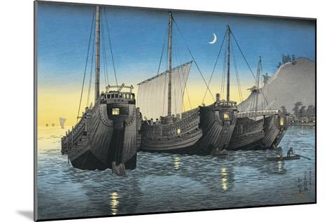 Junk Ships in the Sea--Mounted Giclee Print
