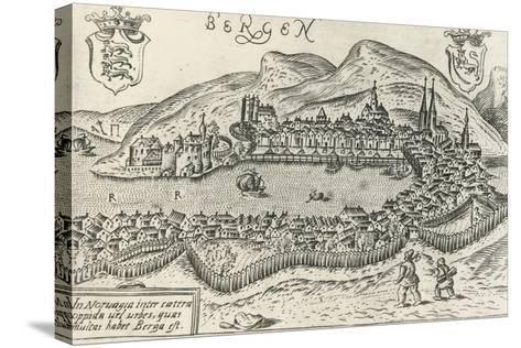 City of Bergen, 1580, Norway, 16th Century--Stretched Canvas Print