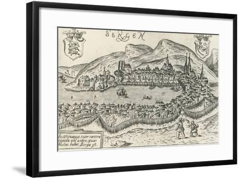 City of Bergen, 1580, Norway, 16th Century--Framed Art Print