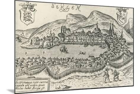 City of Bergen, 1580, Norway, 16th Century--Mounted Giclee Print