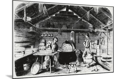 Cheese Making, Italy, 19th Century--Mounted Giclee Print