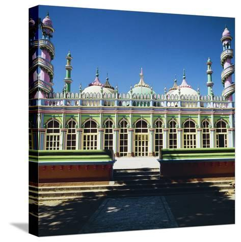 Brightly Colored Facade of Mosque in Junagadh, Gujarat, India--Stretched Canvas Print