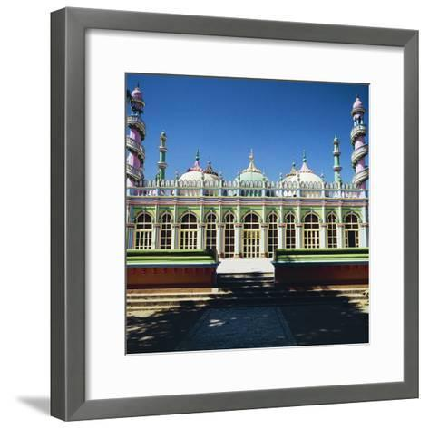 Brightly Colored Facade of Mosque in Junagadh, Gujarat, India--Framed Art Print