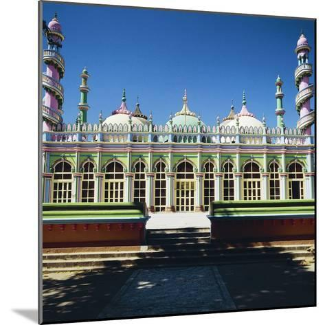 Brightly Colored Facade of Mosque in Junagadh, Gujarat, India--Mounted Giclee Print