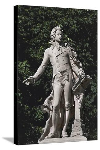 Close-Up of a Statue, Mozart Statue, Vienna, Austria--Stretched Canvas Print