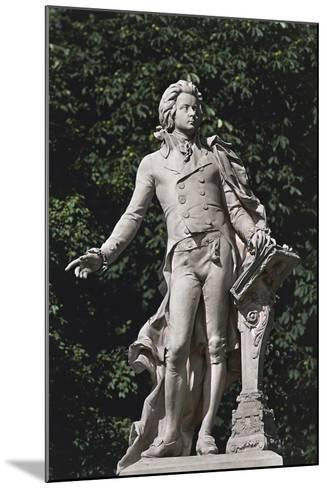 Close-Up of a Statue, Mozart Statue, Vienna, Austria--Mounted Giclee Print