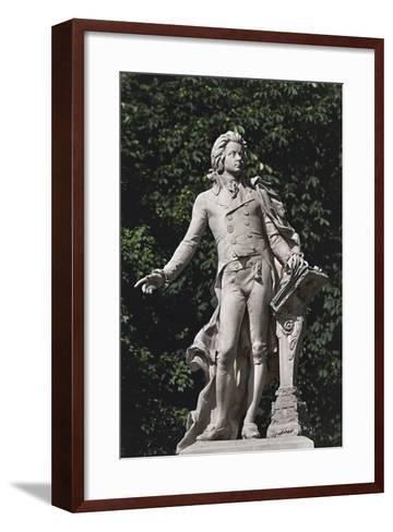 Close-Up of a Statue, Mozart Statue, Vienna, Austria--Framed Art Print
