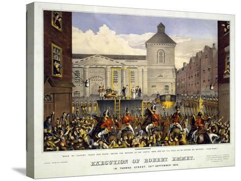Execution of Robert Emmet in Thomas Street, 20th September 1803, 1803--Stretched Canvas Print