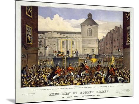 Execution of Robert Emmet in Thomas Street, 20th September 1803, 1803--Mounted Giclee Print