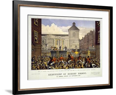 Execution of Robert Emmet in Thomas Street, 20th September 1803, 1803--Framed Art Print