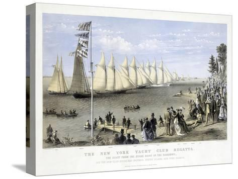 The New York Yacht Club Regatta, Pub. Currier and Ives, 1869--Stretched Canvas Print