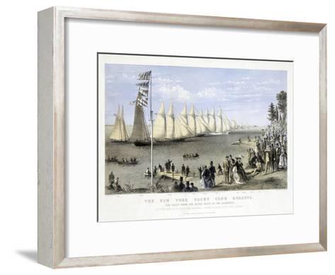 The New York Yacht Club Regatta, Pub. Currier and Ives, 1869--Framed Art Print