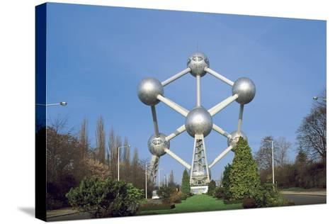 Low Angle View of the Atomium, Brussels, Belgium--Stretched Canvas Print