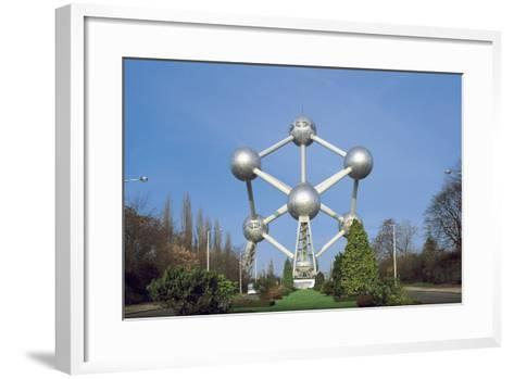 Low Angle View of the Atomium, Brussels, Belgium--Framed Art Print