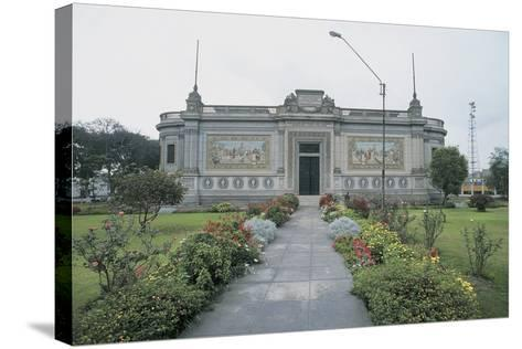 Facade of a Museum, Lima, Peru--Stretched Canvas Print