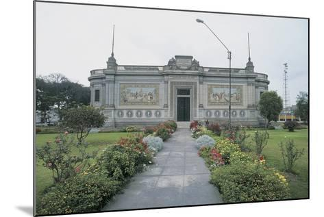 Facade of a Museum, Lima, Peru--Mounted Giclee Print