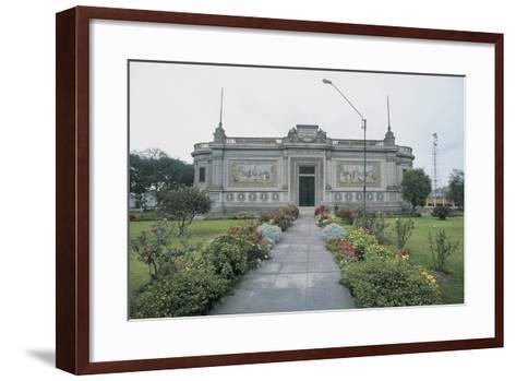 Facade of a Museum, Lima, Peru--Framed Art Print