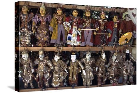 Handcrafted Puppets, Mandalay, Myanmar--Stretched Canvas Print