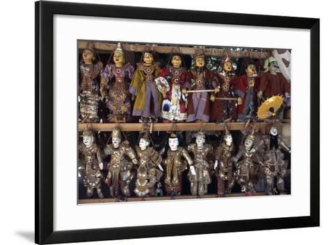 Handcrafted Puppets, Mandalay, Myanmar--Framed Art Print