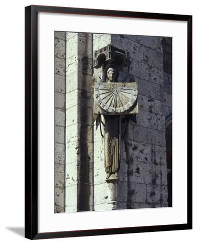 Angel Statue on the Wall of a Cathedral, Notre Dame, Chartres, France--Framed Art Print