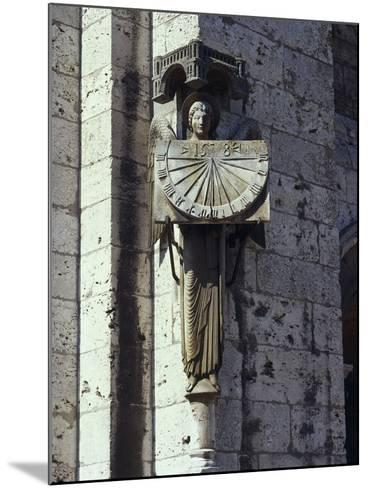 Angel Statue on the Wall of a Cathedral, Notre Dame, Chartres, France--Mounted Giclee Print