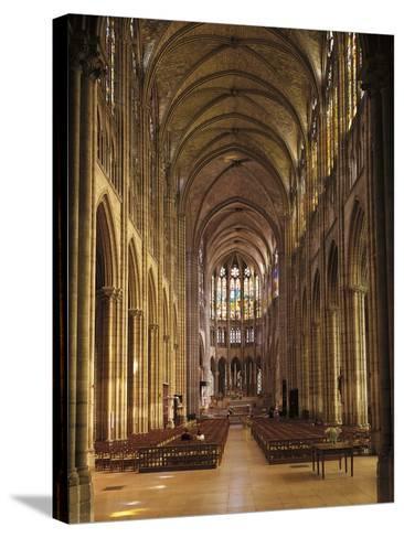 Interiors of a Church, Saint Denis Basilica, Ile-De-France, France--Stretched Canvas Print
