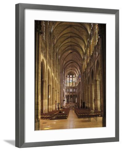 Interiors of a Church, Saint Denis Basilica, Ile-De-France, France--Framed Art Print