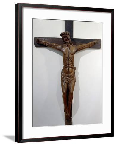 Crucifix from Hermitage of Septfounds, France, 15th Century--Framed Art Print