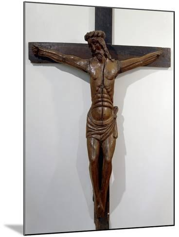 Crucifix from Hermitage of Septfounds, France, 15th Century--Mounted Giclee Print
