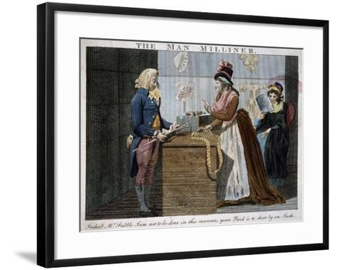 The Man Milliner, 1793, United Kingdom, 18th Century--Framed Art Print