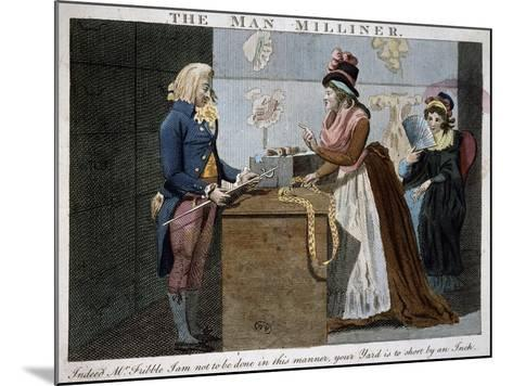 The Man Milliner, 1793, United Kingdom, 18th Century--Mounted Giclee Print