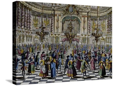 Gala Ball, Colour, Italy, 18th Century, Detail--Stretched Canvas Print