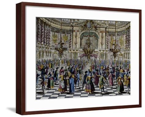 Gala Ball, Colour, Italy, 18th Century, Detail--Framed Art Print