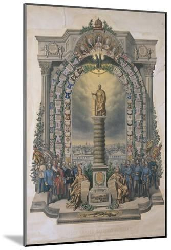 Group of Army Soldiers at a Monument, Austria--Mounted Giclee Print