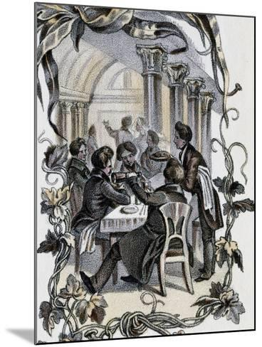 Male Characters Sitting at Table, Austria, 19th Century--Mounted Giclee Print