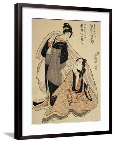 Woman Sitting and Thinking with Another Woman Standing Beside Her--Framed Art Print