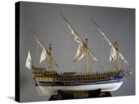 Royal French Galeas Model, 1:50 Scale, 18th Century--Stretched Canvas Print