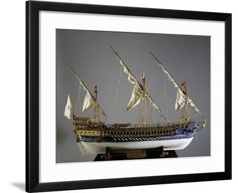 Royal French Galeas Model, 1:50 Scale, 18th Century--Framed Art Print