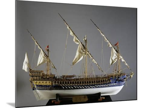Royal French Galeas Model, 1:50 Scale, 18th Century--Mounted Giclee Print