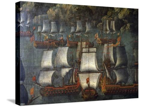 Naval Deployment, by Venetian Artist, Detail, Italy, 18th Century--Stretched Canvas Print