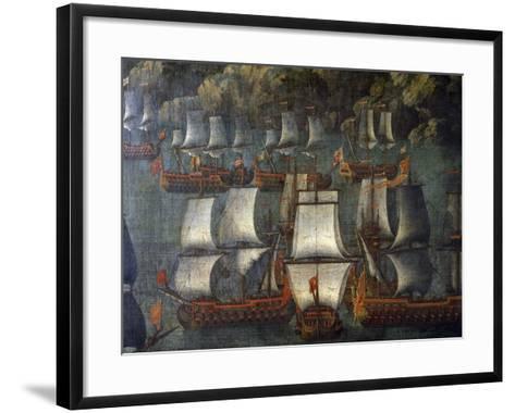 Naval Deployment, by Venetian Artist, Detail, Italy, 18th Century--Framed Art Print
