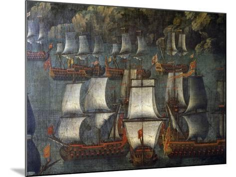 Naval Deployment, by Venetian Artist, Detail, Italy, 18th Century--Mounted Giclee Print