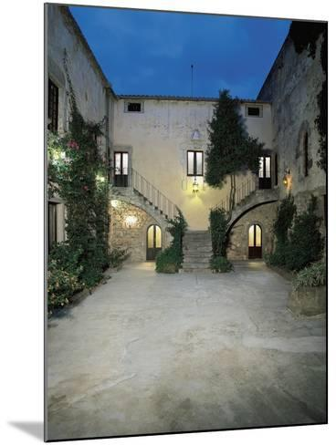 Plants in the Courtyard of a Castle, Sanluri, Sardinia, Italy--Mounted Giclee Print